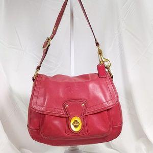Coach Leather Red Legacy Shoulder Handbag